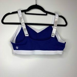 Fabletics Royal Blue with White Trim Sports Bra